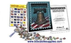 HE Harris USA Independence Stamp Collecting Starter Kit