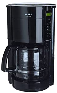 Krups 453-4C 12-Cup Coffeemaker with Gold Tone Filter, Black