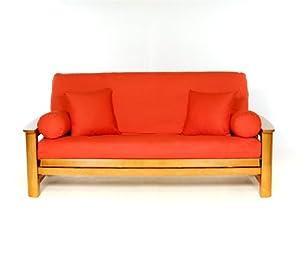 Amazon Lifestyle Covers Orange Full Size Futon Cover