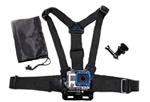 The Accessory Pro® Chest Mount Harness w/ J Hook Mount and Carry Bag - compatible with all GoPro® cameras