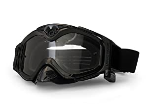 The Liquid Image XSC Impact Series HD 365BK MX Goggle with Integrated True POV HD Video Camera with 1.5x Optical Zoom and 1-Inch LCD Screen - Black