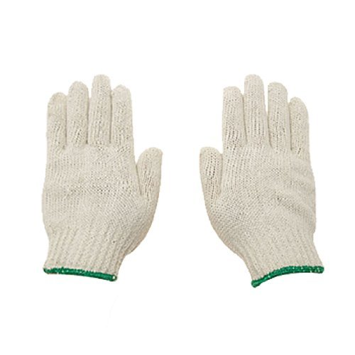 Water & Wood 12 Pairs White Factory Industry Knitted Cotton Work Protect Gloves