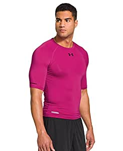 Under Armour Men's HeatGear® Sonic Compression Half Sleeve Large Tropic Pink