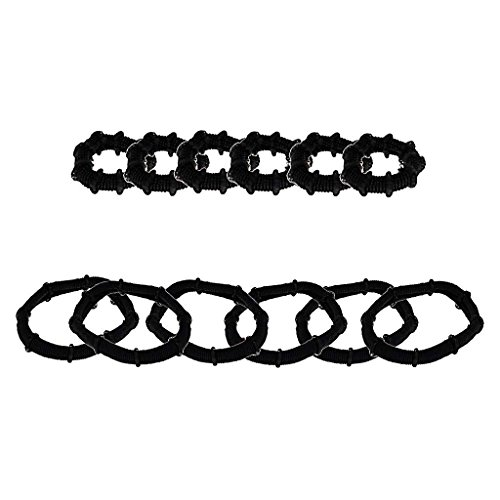 Accessoires Cheveux - Basic Elastique Cheveux Paquet de: 12 pièces Material: 100% Polyester Color: Noir