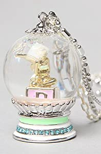 Disney Couture Jewelry The Icon Collection Tinkerbell Snow Globe Necklace,Jewelry for Women by Disney Couture Jewelry