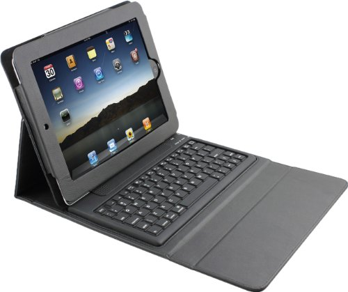 Black PU Leather Case with Wireless Bluetooth Keyboard for Apple iPad 2