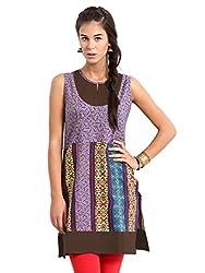 Miraaya Women's Cotton Kurti (M2052A_3339_Blue_Large)