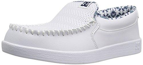 DC Women's Villain SE Skateboarding Shoe, White/Blue, 7.5 B US
