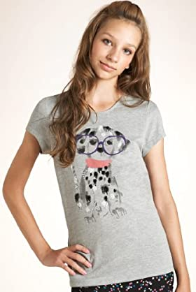 Girls' Limited Sequin Embellished Dog T-shirt