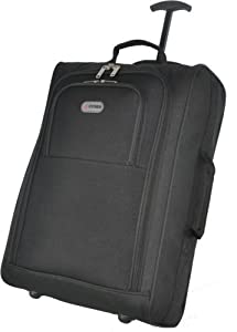 5 Cities Hand Luggage Travel Holdall Baggage Wheely Suitcase Cabin Approved Bag 55x35x20Ryanair Easyjet And Many More - 1.65k - 42 Litres - PADLOCK INCLUDED