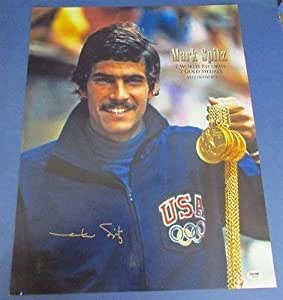 Mark Spitz 7 WR 7 Olympic Gold Medal Signed 16x20 Photo PSA/DNA S24225