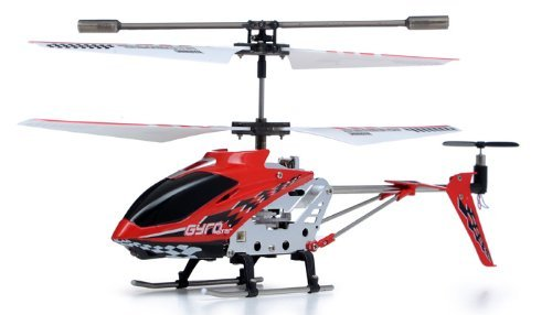 The Gyro Star S107 3 Channel Mini Indoor Co-Axial Metal RC Helicopter w/ Built in Gyroscope (Red) with Mini Tool Box (fs)