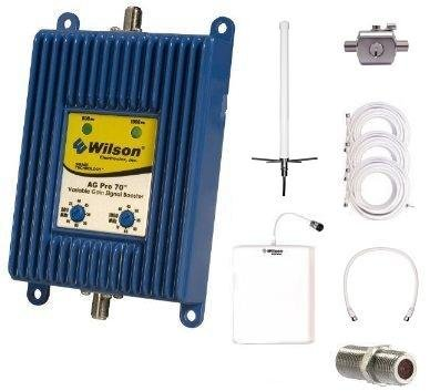 Wilson Ag Pro 70 Db Dual Band Cellular Signal Booster Omni Directional Complete Kit With Lightning Surge Protector