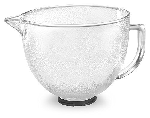 Kitchenaid K5Gbh Tilt-Head Hammered Glass Bowl With Measurement Markings And Lid, 5-Quart