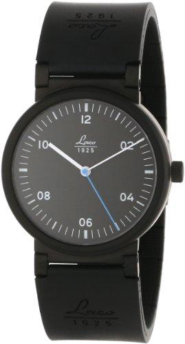 Laco 1925 880106 - Reloj analógico automático unisex, correa de goma color negro