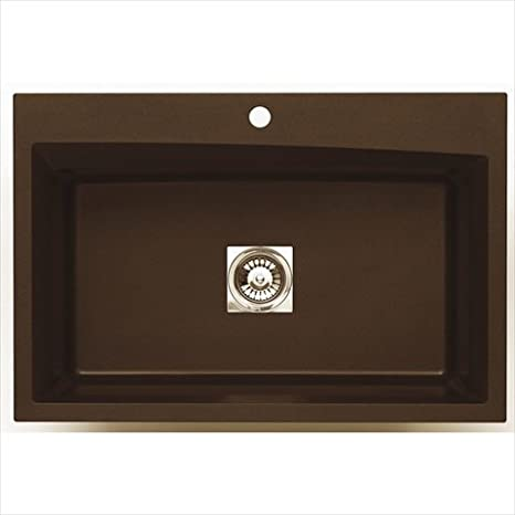 Astracast WC10RQUSSK Large Single Bowl Kitchen Sink, Metallic Chocolate