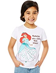 Pure Cotton Disney Ariel Print T-Shirt