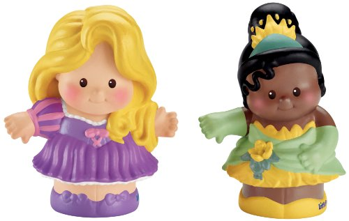 Fisher-Price Little People Disney 2 Pack: Rapunzel and Tiana - 1