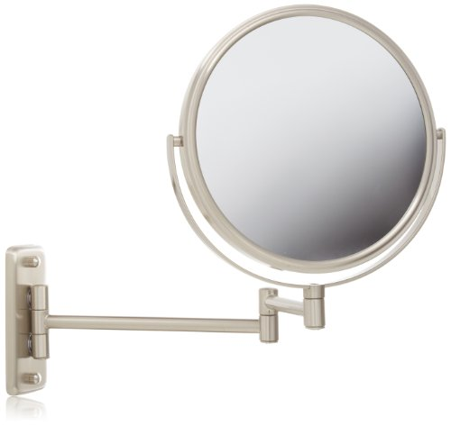 Jerdon Jp7808N 8-Inch Two-Sided Swivel Wall Mount Mirror With 8X Magnification, 13.5-Inch Extension, Nickel Finish front-64008