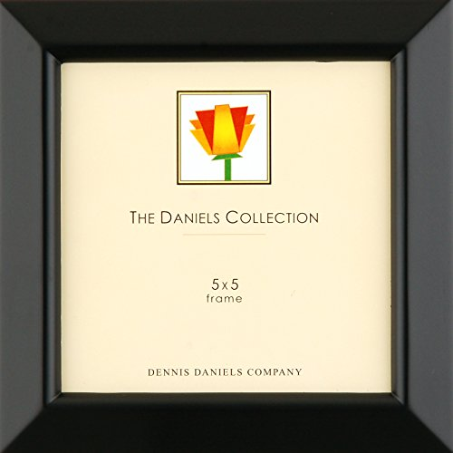 Dennis Daniels Gallery Woods Beveled Molding Picture Frame, 5 x 5 Inches, Ebony Finish
