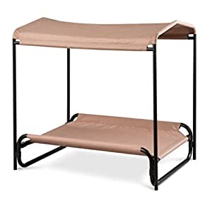 Heavy duty elevated dog bed canopy extra - Outdoor dog beds with canopy ...