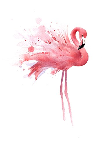 """Flamingo"" Watercolor Art Print Signed by Artist DJ Rogers ..."