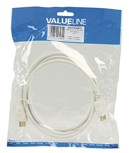 Nedis Valueline 1.5m HDMI to HDMI Connector High Speed Cable with Ethernet - White