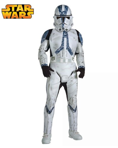 Deluxe Clone Trooper Child ( Large ) Costume AND Accessories