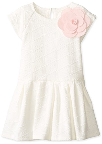 Pippa & Julie Little Girls' Textured Knit Dress, Ivory, 3T
