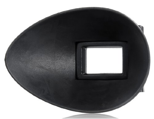 EMOLUX 22mm Ear-shaped Rubber Eyecup for Canon EOS 10d, 20d, 30d, 40d, 50d, 60D, 7d, 5D, 5d Mark II, III, 1D, 1Ds, Mark II, III, IV. 1DC, 1DX (Black)