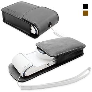 Snugg Galaxy Smart Camera Leather Case in Black with Premium Nubuck Fibre Interior for Samsung Galaxy Smart Camera WiFi 3G