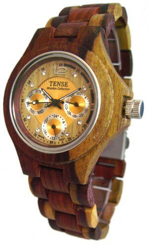 時計 Tense テンス Inlaid Multicolor Wood Triple Dial Mens Round Watch G4300I LF メンズ 男性用 [並行輸入品]