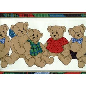 Children's Teddy Bear Border