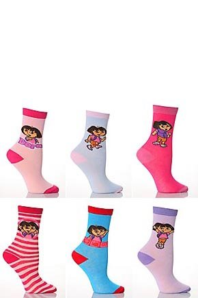 Girls Dora The Explorer Socks