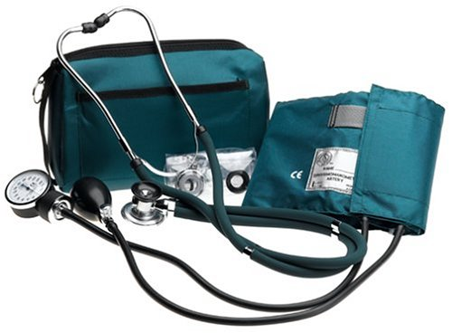 Prestige Sphygmomanometer & Stethoscope Kit with Matching Hunter Green Carrying Case