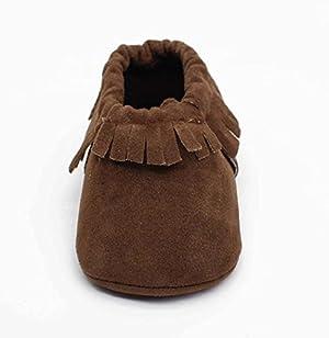 Sagton Baby Infant Kid Boy Girl Toldder Soft Soled Non-slip Footwear Crib Shoe (US:4, Coffee)