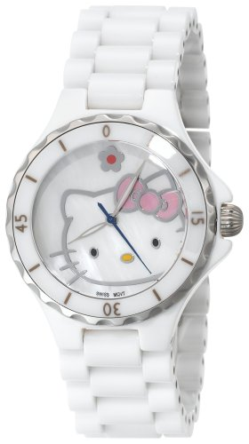 Hello Kitty Women's QWL1200WHT Kimora Lee Simmons White Ceramic  Watch