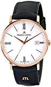 Maurice Lacroix Men's EL1087-PVP01-110 Eliros Analog Display Analog Quartz Black Watch