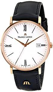 Maurice Lacroix Men's EL1087-PVP01-110 Eliros Analog Display Analog Quartz Black Watch