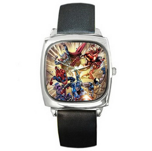 Men's PGA103 spiderman and friends Ultimate Leather Wrist Watch perfect boys girls gift