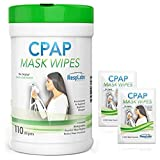CPAP Mask Cleaning Wipes - 110 Pack + 2 Travel Wipes | The Original Unscented Cleaner for Masks | Equipment & Machine Supplies by RespLabs (Tamaño: 110 Pack + 2 Travel Wipes)
