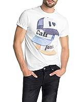 edc by ESPRIT Herren T-Shirt Slim Fit, mit Print