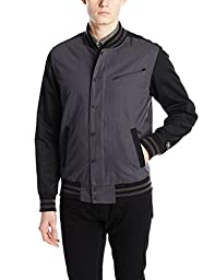 Hurley Men\'s All City Static Jacket, Black, Medium