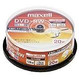 日立マクセル 録画用2倍速DVD-RW20枚パックスピンドルケース入 ワイドプリンタブルホワイト DW120PLWP.20SP