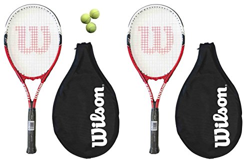 Wilson - 2 racchette da tennis Federer 110 L3 + 3 palle da tennis RRP
