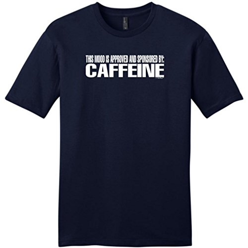 This Mood Is Approved And Sponsored By Caffeine Young Mens T-Shirt Small Navy