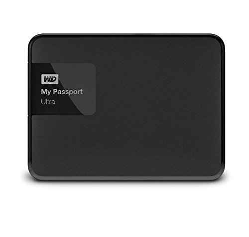 WD My Passport Ultra 2 TB Portable External Hard Drive, Black (WDBBKD0020BBK-NESN)