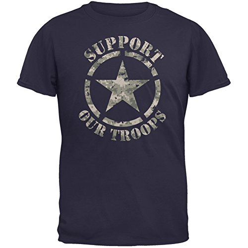 Support Our Troops Camo Star Navy Adult T-Shirt - Large (Old Navy Rock Star compare prices)