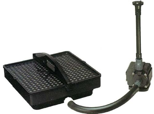 Pondmaster 02215 500 GPH Pond Pump with Filter and Fountain Set
