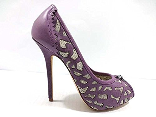 scarpe donna RICHMOND 40 EU decoltè viola pelle camoscio AY969